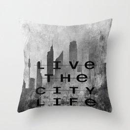 Live The City Life Throw Pillow