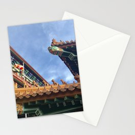 Chinese roof tops Stationery Cards