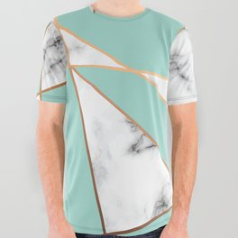 Marble Geometry 055 All Over Graphic Tee