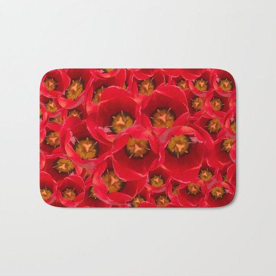 Venetian Red Tulips Bath Mat