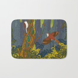 Can't See the Wood for the Treecreepers Bath Mat