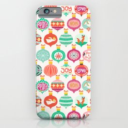 Colorful Christmas Baubles iPhone Case