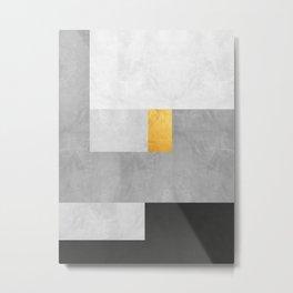 Gold Composition XVIII Metal Print