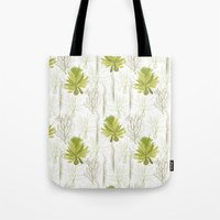 green pattern Tote Bags featuring Green pattern  by LOLIA-LOVA