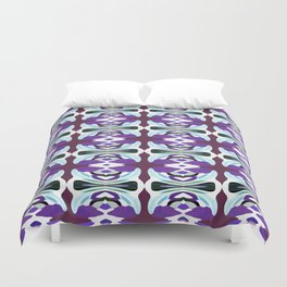 Passion For Purple - Painting Within The Lines Collection Duvet Cover