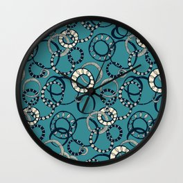 Honolulu hoopla blue Wall Clock