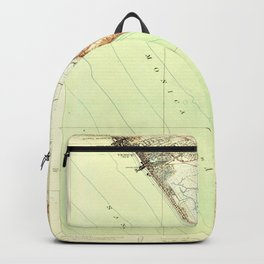 Venice, CA from 1924 Vintage Map - High Quality Backpack
