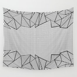 Grids and Stripes Wall Tapestry
