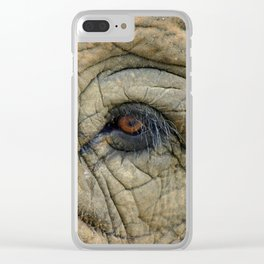 Through The Eye of the Elephant Clear iPhone Case