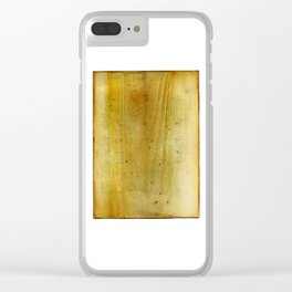 Distressed Paper Art Fifteen Clear iPhone Case