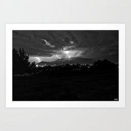 Lightning over the 'Bu..... Art Print