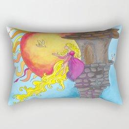 Rapunzel in her Tower Rectangular Pillow