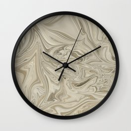 Desert Clay Marble Wall Clock
