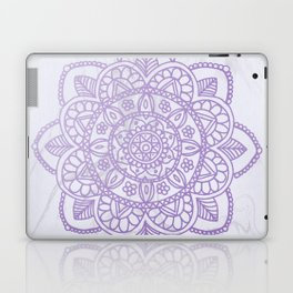Lavender Mandala on White Marble Laptop & iPad Skin