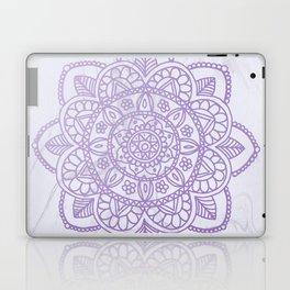 Lavender Mandala on White Marble Laptop & iPad Skin
