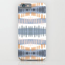 Tribal Watercolor Stripes iPhone Case