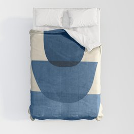 Abstract Shapes 37-Blue Comforters