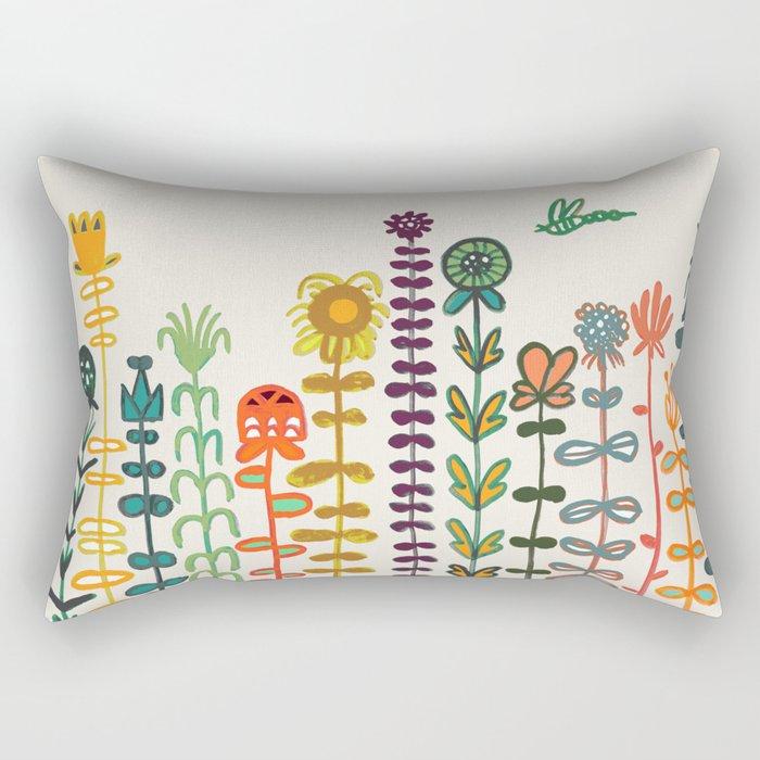 Happy garden Rectangular Pillow