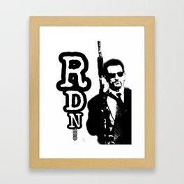 Robert De Niro holding gun mafia gangster movie Heat Framed Art Print