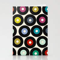 vinyl Stationery Cards featuring VINYL by Sharon Turner