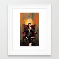 benedict Framed Art Prints featuring Sitting Benedict by Wisesnail
