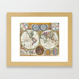 Old World Map print from 1794 Framed Art Print
