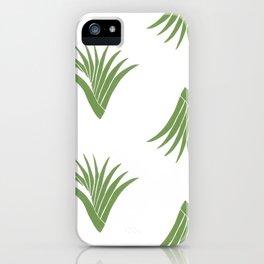 Pandanus Leaf Pattern - Green iPhone Case