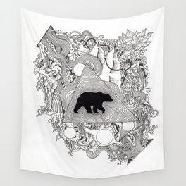 Bear Quintessence Wall Tapestry