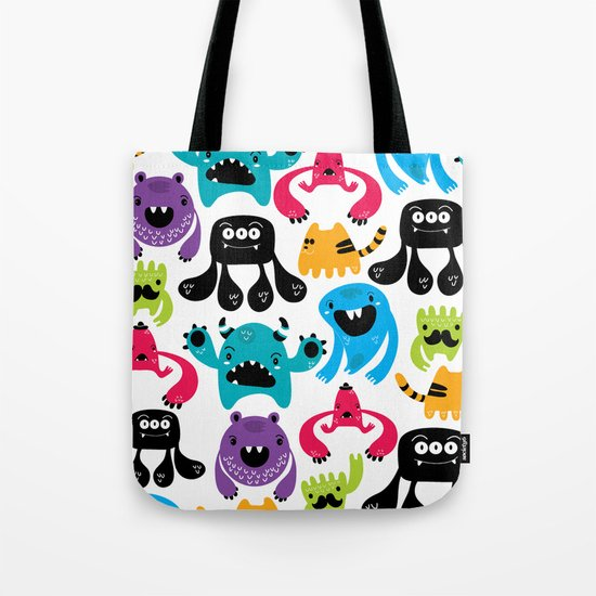 Monster pattern Tote Bag