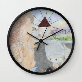 Sunset in Oia Wall Clock