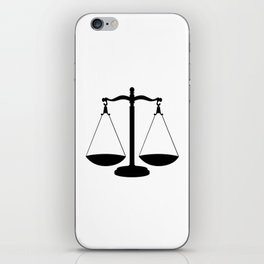 Balance Scales iPhone Skin