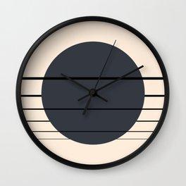 Private Moon - Deep Blue Wall Clock