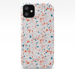 Terrazzo in pink and blue iPhone Case