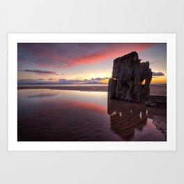 West Coast Sunset. Art Print