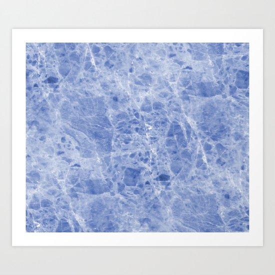 Juliette blue marble Art Print