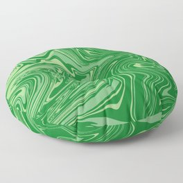 Green pastel abstract marble Floor Pillow