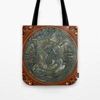 portal Tote Bags featuring Portal by DesignsByMarly