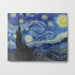 Starry Night by Vincent van Gogh Metal Print