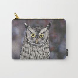 eastern screech owl on a branch Carry-All Pouch