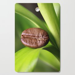 Coffee beans on bamboo Cutting Board