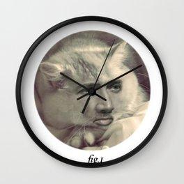 """""""fig.1"""" grey Wall Clock"""