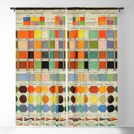 Vintage Scientific Encyclopedia Lithograph Diagram of Color Spectrum Rainbow Blackout Curtain