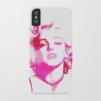 monroe iPhone & iPod Cases featuring Monroe by Laura Maria Designs