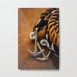 AGKYRA - ROPE - STEEL - WRIST - HAND Metal Print