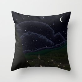 Starry Night Realistic  Throw Pillow