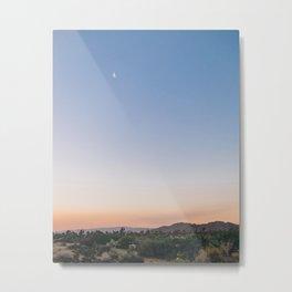 Harvest Moon and Desert Sky 2 Metal Print