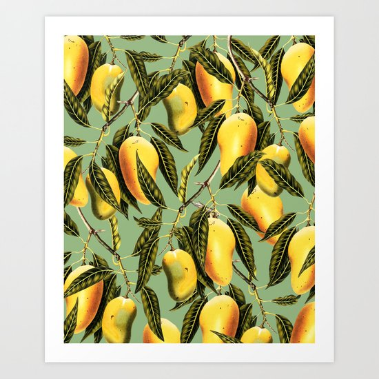 Mango Season #society6 #decor #buyart Art Print