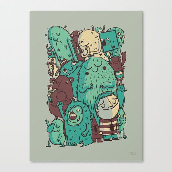 An Odd Crowd Canvas Print