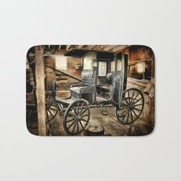 Vintage Horse Drawn Carriage Bath Mat