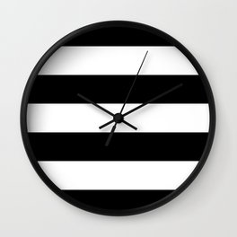 Black White Stripe Minimalistic Wall Clock